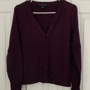 BANANA REPUBLIC PLUM SWEATER CARDIGAN